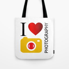 I love photography- Photography lovers passion- yellow camera Tote Bag