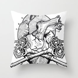 Keys to my heart Throw Pillow