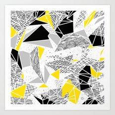 Geometric abstract textures Art Print