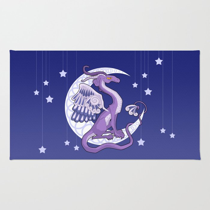 Vendel Dragon - the moon Rug