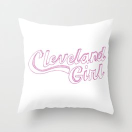 Cleveland Girl Throw Pillow