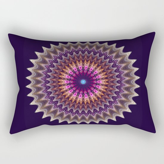 Groovy starry mandala with tribal patterns Rectangular Pillow