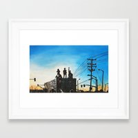 oakland Framed Art Prints featuring Occupy Oakland! by Rebecca Sandford-Smith