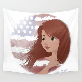 God Bless America 3 Wall Tapestry