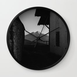 Window to the Mountains Wall Clock