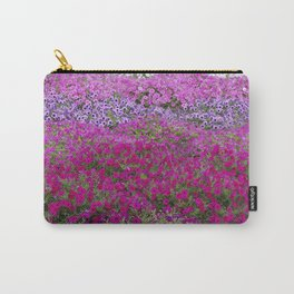 Waves of color on a sea of Petunias Carry-All Pouch