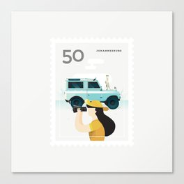 Stamp : Cities #7 - Johannesburg Canvas Print