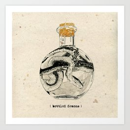 Bottled Demons Art Print