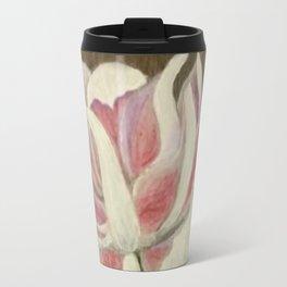 White and Pink Lotus Travel Mug