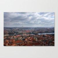 prague Canvas Prints featuring Prague by T. Peters