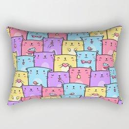 Colored Cats Rectangular Pillow
