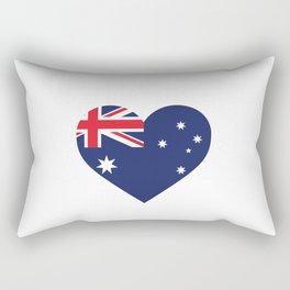 Australia  love flag heart designs  Rectangular Pillow