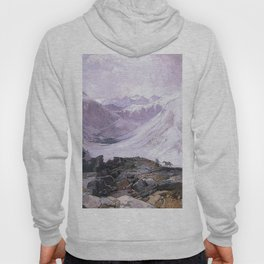 Mosquito Trail Rocky Mountains Colorado 1874 By Thomas Moran | Winter Landscape Reproduction Hoody
