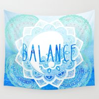 balance Wall Tapestries featuring Balance by Sara Eshak