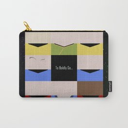 To Boldy Go - square - Star Trek The Original Series TOS - startrek Trektangle Kirk Spock Bones  Carry-All Pouch