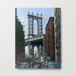 Brooklyn Bridge & Empire State Building Metal Print