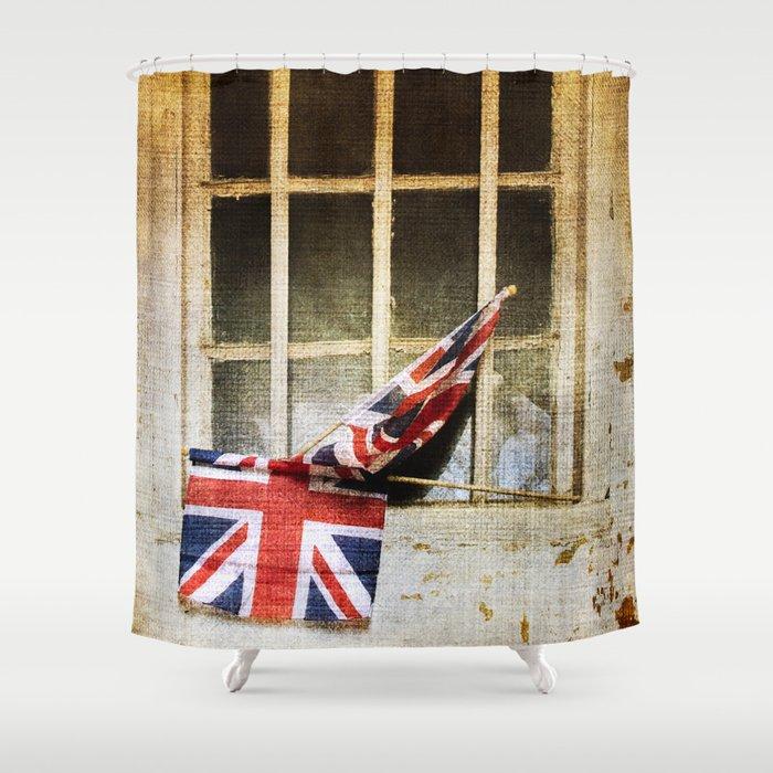 Union Jack Flag Shower Curtain