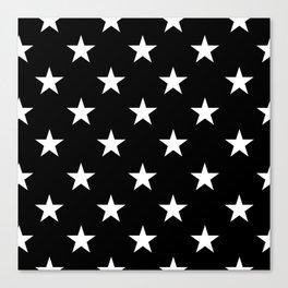Stars (White/Black) Canvas Print