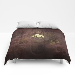 Steampunk Zodiac  Taurus Comforters