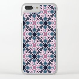 Night Mosaic Tile Clear iPhone Case