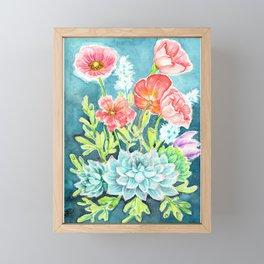 Botanical Aquarelle Framed Mini Art Print