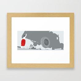 Smallville Blowout Framed Art Print