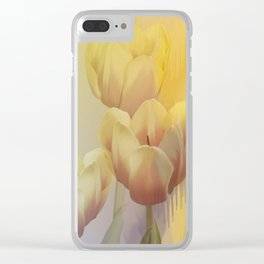 Tulips in golden light Clear iPhone Case