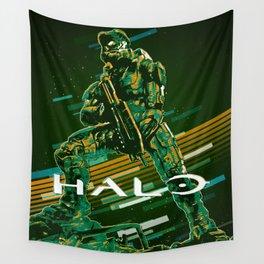 Halo retro art Wall Tapestry