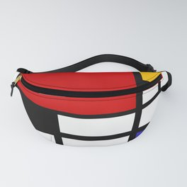 Piet Mondrian - Composition with Red, Yellow, and Blue 1942 Artwork Fanny Pack