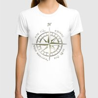 gondor T-shirts featuring Not all those who wander are lost - J.R.R Tolkien - 2 by Augustinet