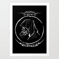 dishonored Art Prints featuring Shadows of Dunwall by vicious mongrel