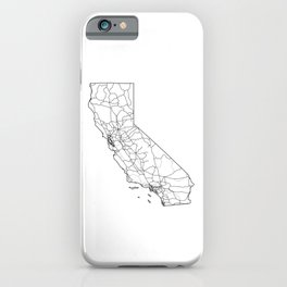 California White Map iPhone Case