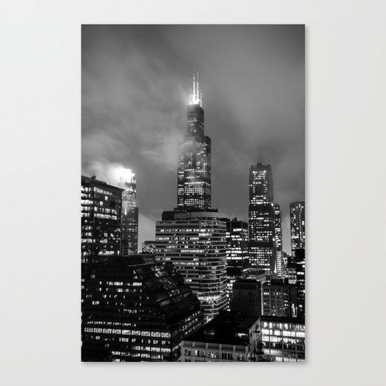 Foggy Chicago Night Canvas Print