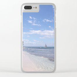 Stranded on Paradise Clear iPhone Case