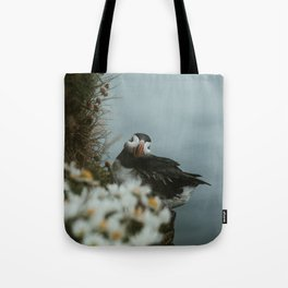 Puffin in the Westfjords Tote Bag
