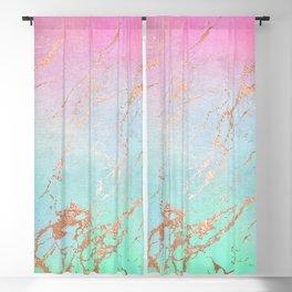Rainbow Glamour Marble Texture Blackout Curtain