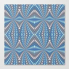 Classic Psychedelic Retro Vortex Geometric Print Canvas Print