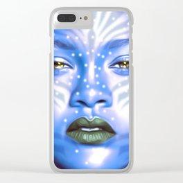 Rihanna - Celebrity Art (Avatar Style) Clear iPhone Case