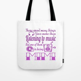 Listening to Music Mimi Tote Bag