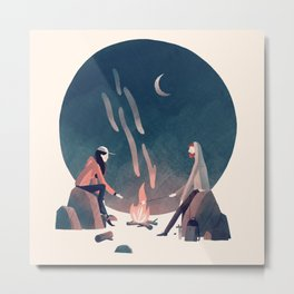 Happy Camping Metal Print