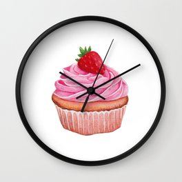 Strawberry Cupcake Wall Clock