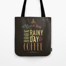 Coffee, book & rainy day Tote Bag