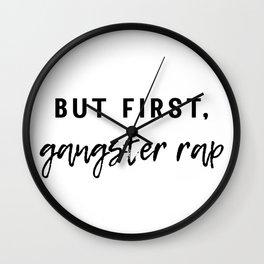 Gangster Rap Wall Clock