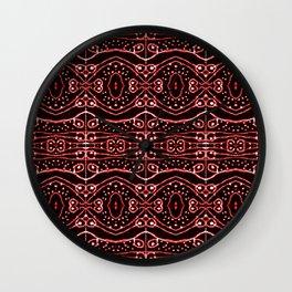 Tribal Ornate Geometric Pattern Wall Clock