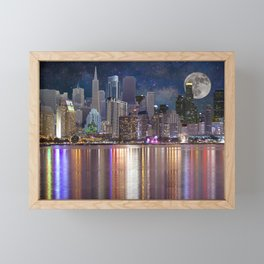 Can you name all the cities? Framed Mini Art Print