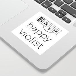 Happy violist (light colors) Sticker
