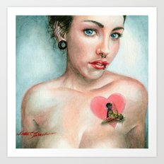Keyhole Heart Art Print
