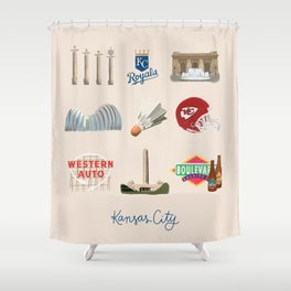 Kansas City, Missouri Shower Curtain