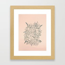 Bouquet series Framed Art Print