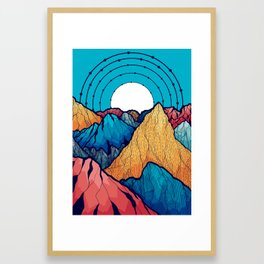 The rocky peaks Framed Art Print